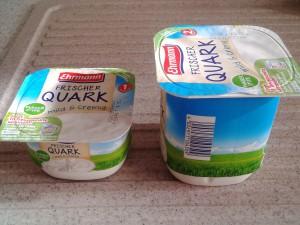 Der Ehrmann frische Quark war mein Favorit