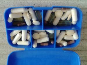 Pillenbox mit hCG Caps und Tabs