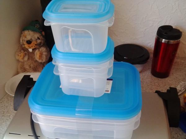 Plastikdosen für Essen