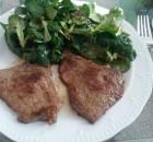 Meine Essen heute: Rinder-Minutensteaks mit Feldsalat
